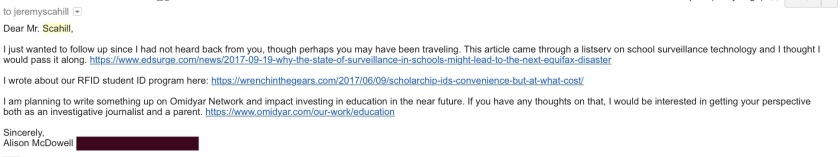 Scahill Email 4