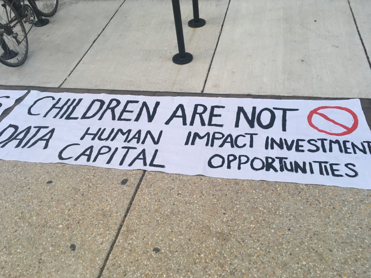 Philadelphia Education Fund's Data-Driven Education Meeting: An Informational Picket at the United Way Building, February 1, 2018