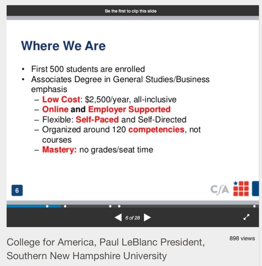 College for America Slideshare