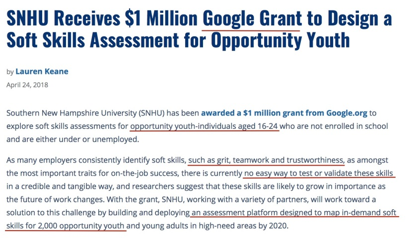 SNHU Google Grant