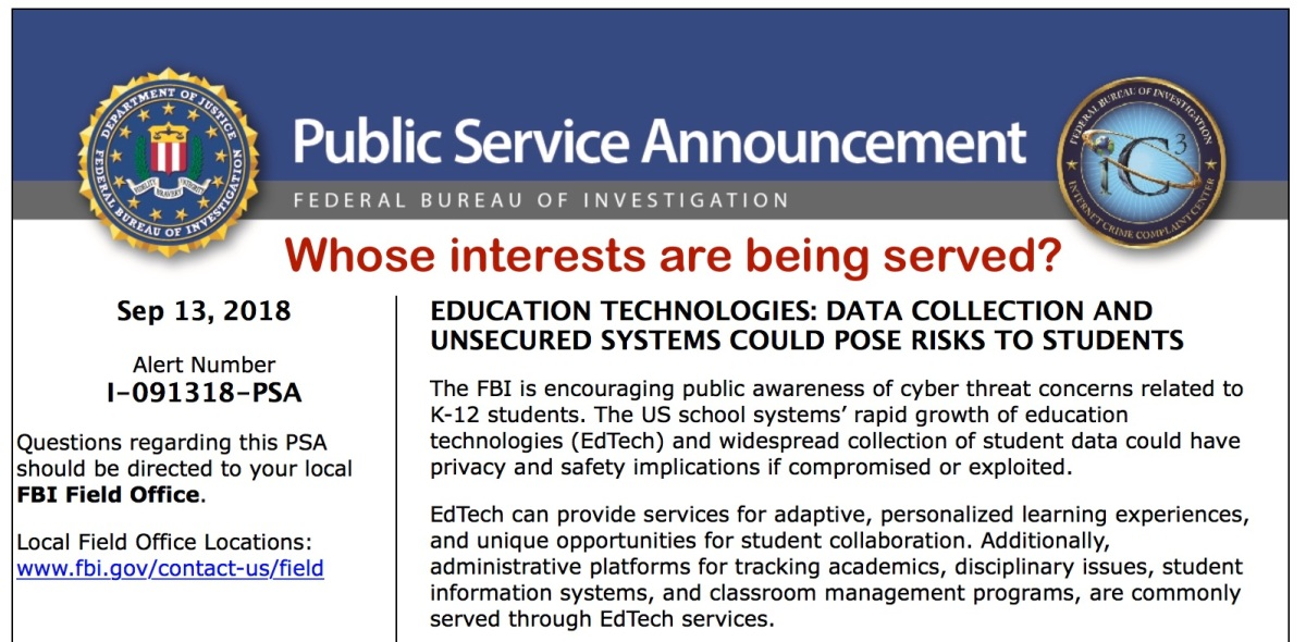The FBI's Educational Technology PSA Isn't All It's Cracked Up ToBe