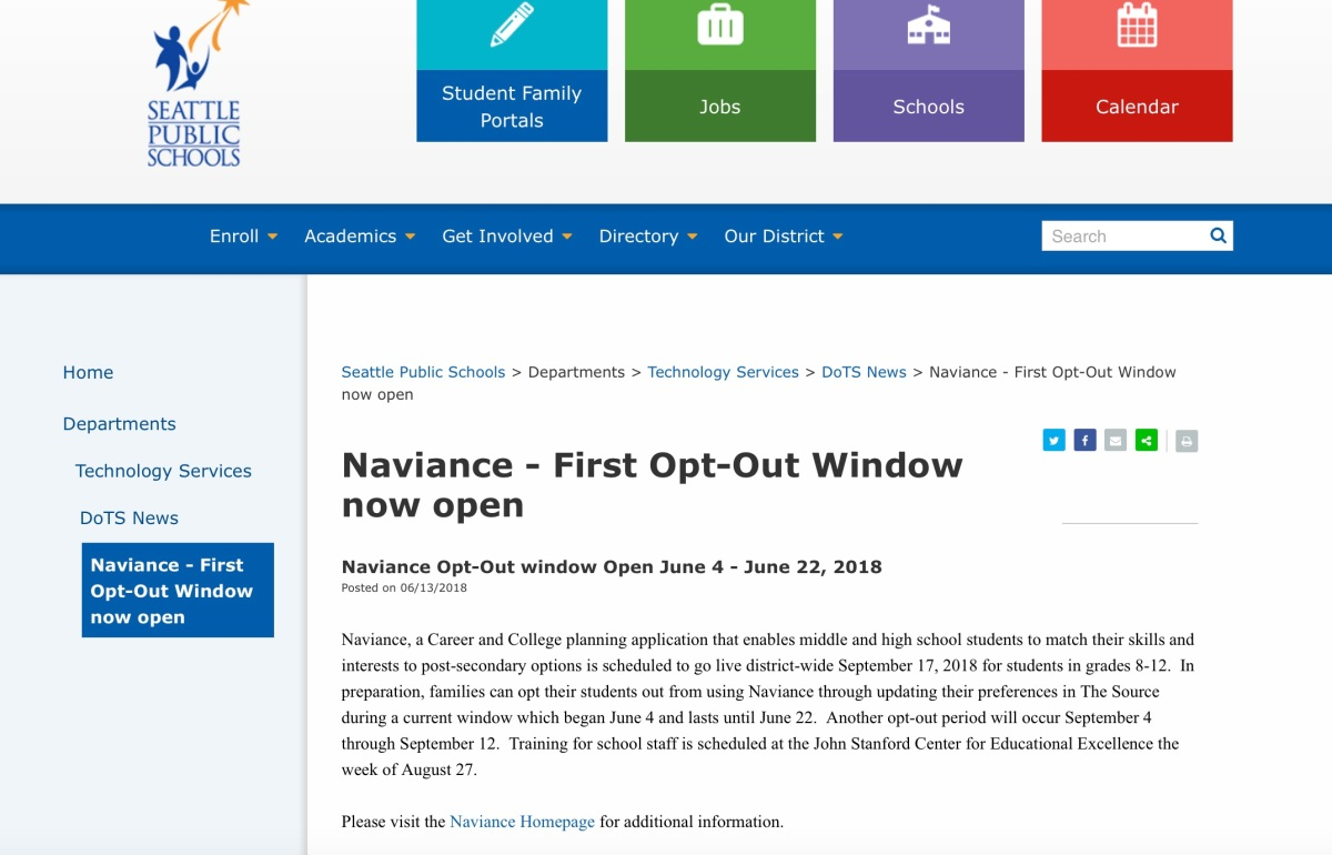 Saying No To Naviance: Active Non-Cooperation Is The Best Form of Resistance