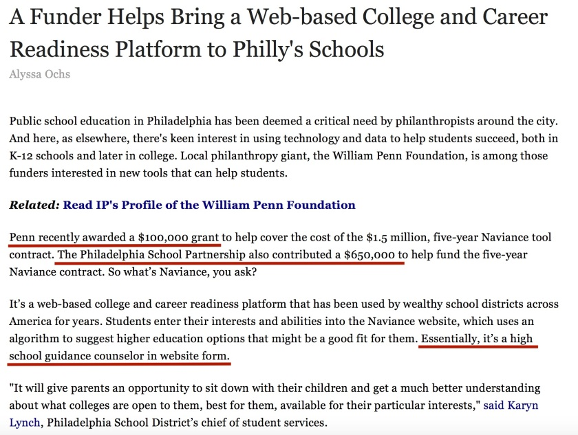Naviance William Penn Foundation