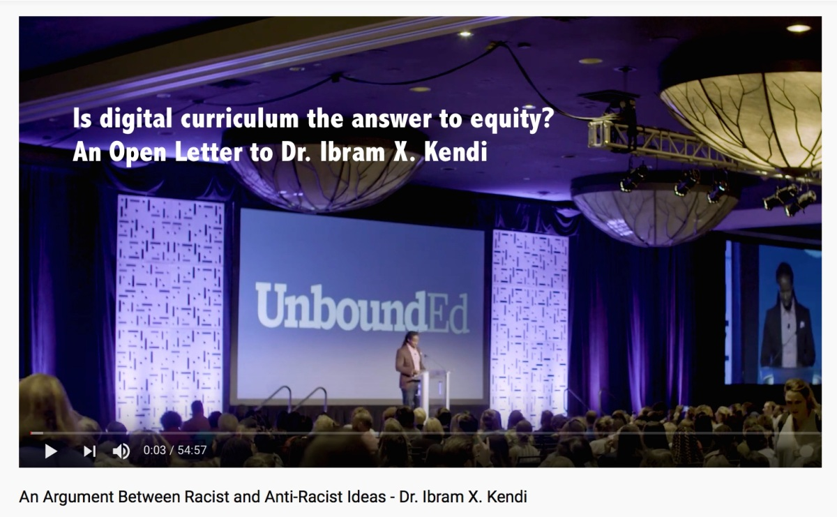 Digital curriculum, an answer to equity? An Open Letter to Dr. Ibram X. Kendi