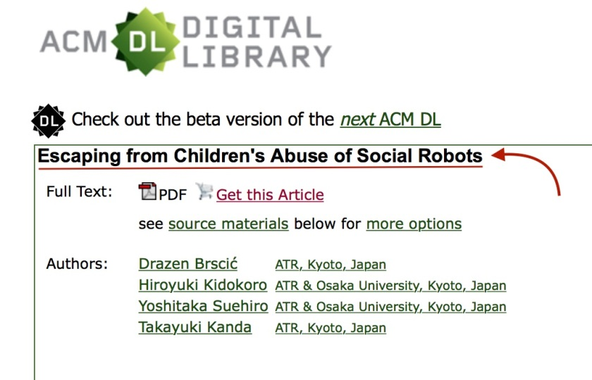 Abuse of Social Robots Japan