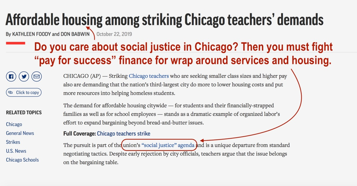 A Letter to Chicago's Teachers On the Perils of Pay for Success Finance & Wrap Around Services