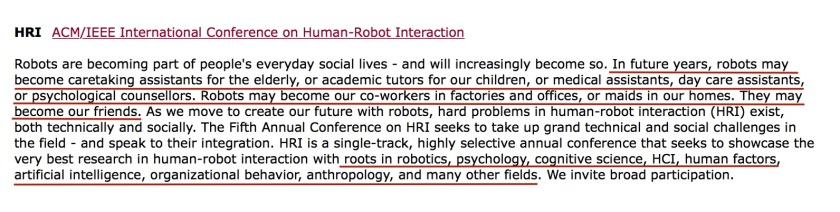 Human Robot Interaction Robot Work