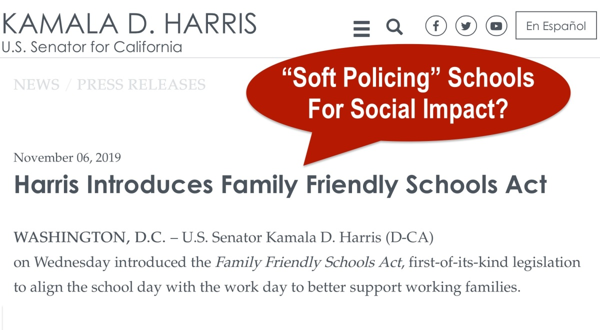 "The Family Friendly Schools Act: A Set Up For ""Soft Policing"" Schools To Profit Impact Investors?"