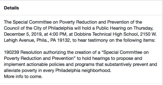 Poverty Committee FB - 2