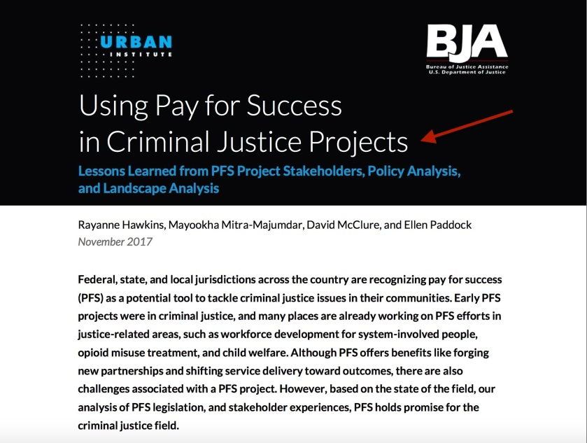 Urban Institute Pay For Success