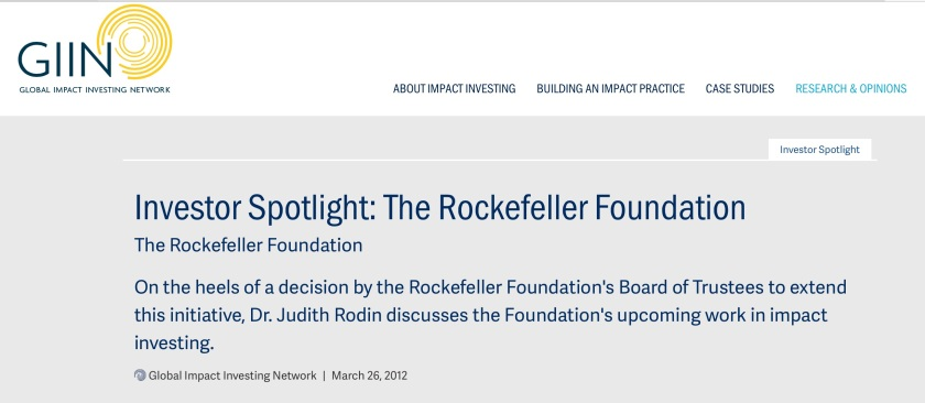 GIIN Rockefeller