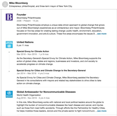 Bloomberg UN LinkedIn