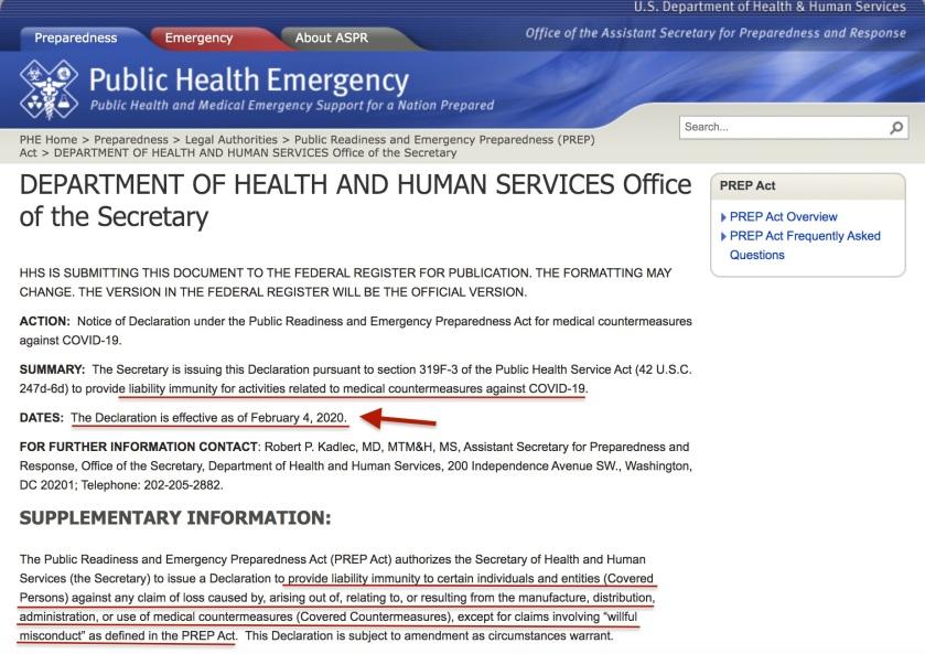 Covid 19 Public Health Emergency