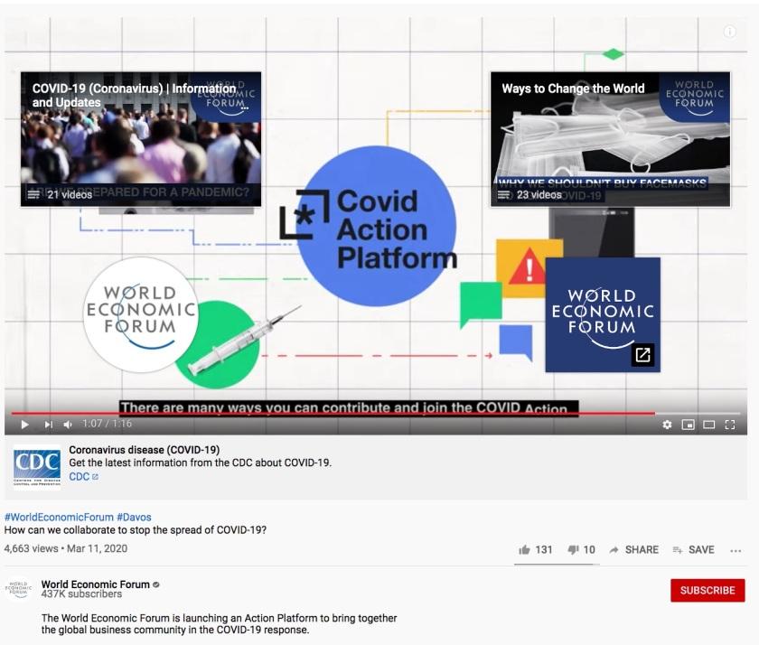 Covid Action Platform WEF