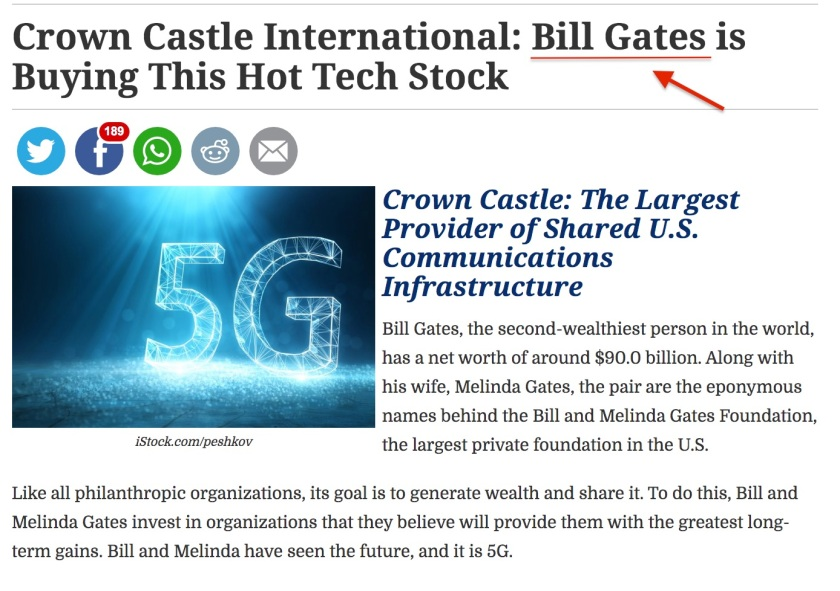 Crown Castle Bill Gates 5G