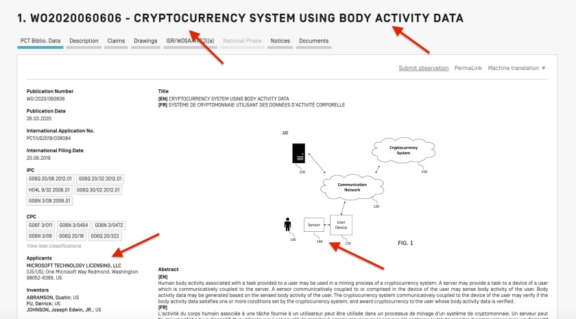 Microsoft Body Cryptocurrency