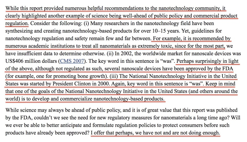 Nano Tech Regulation