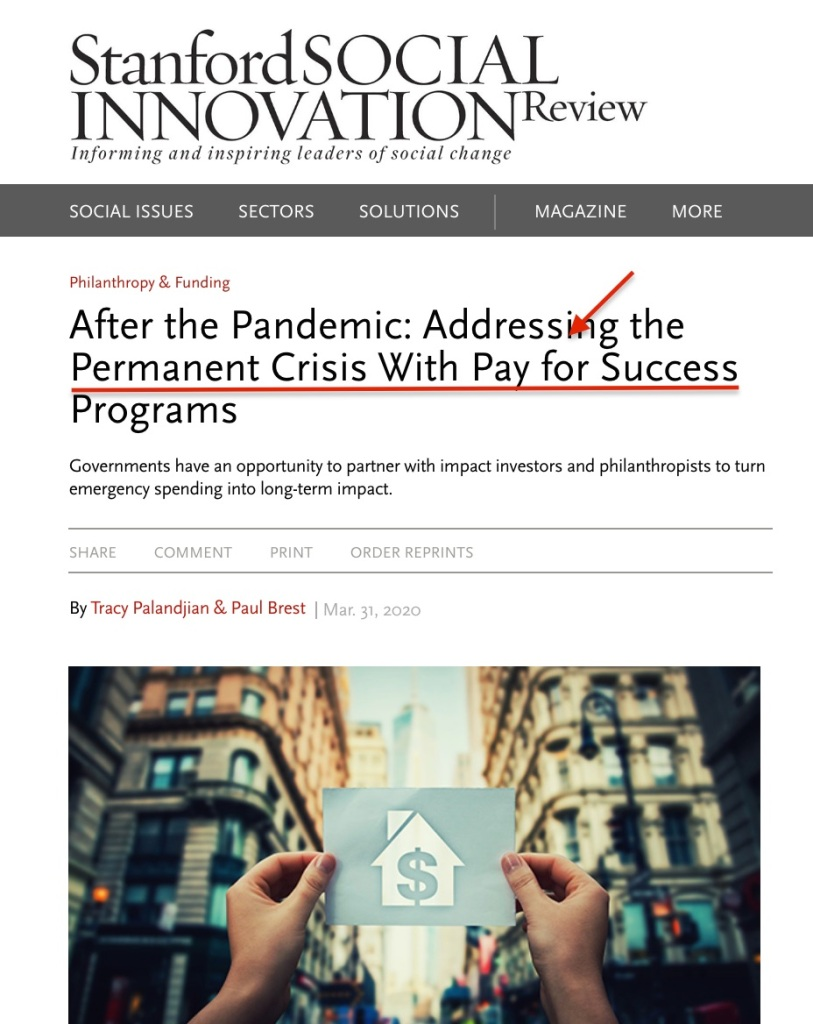 Pandemic Permanent Crisis SSIR
