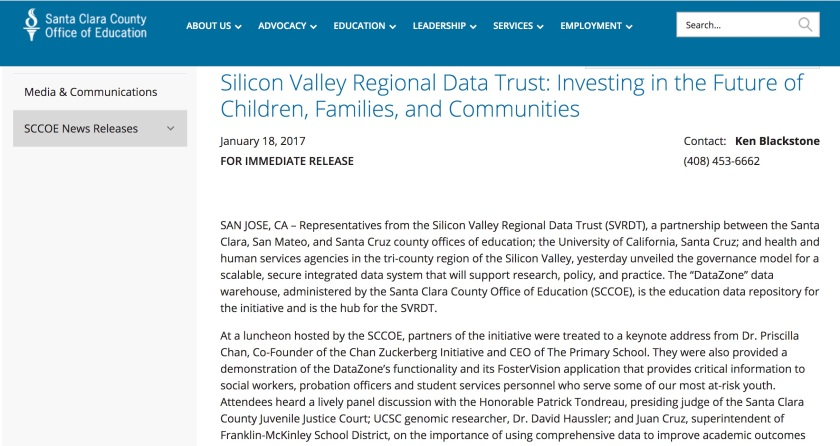 Silicon Valley Regional Data Trust