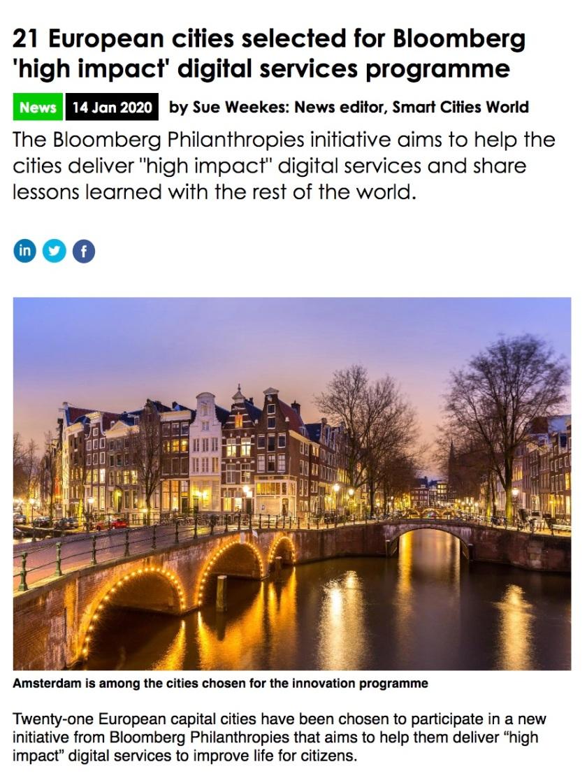 Bloomberg EU Smart Cities