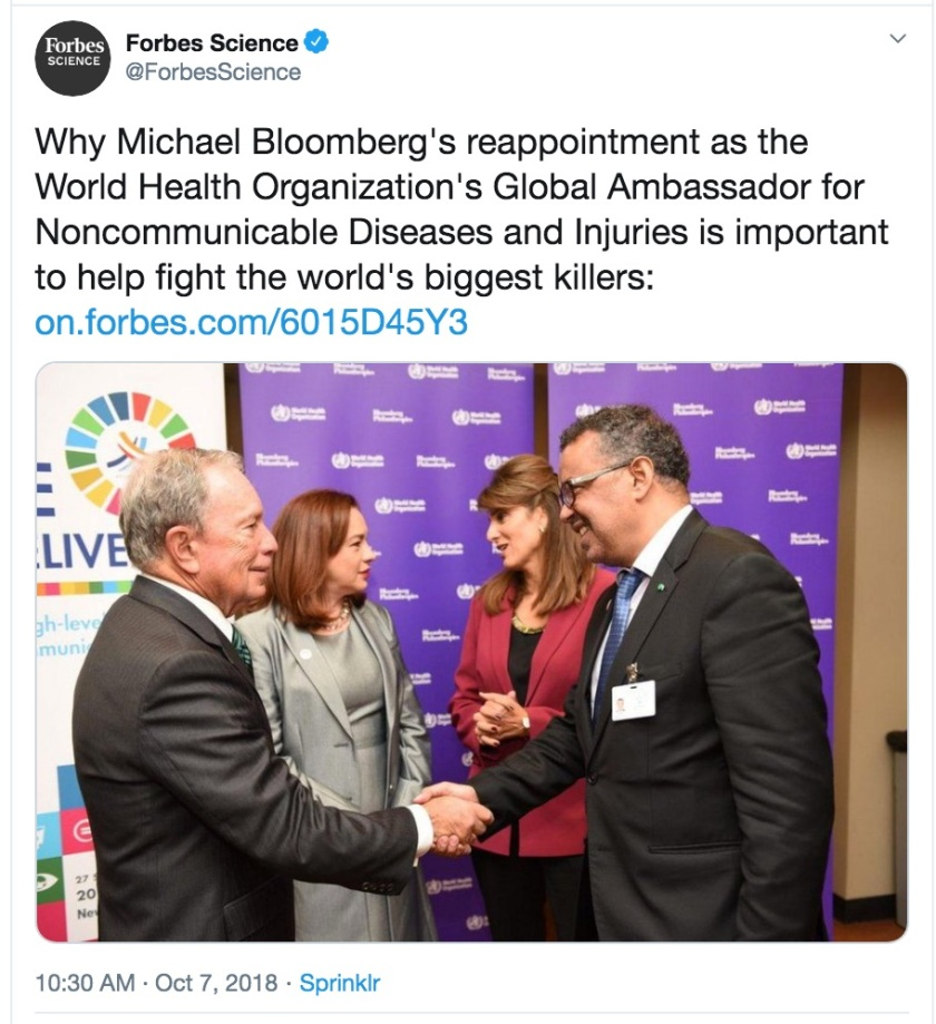Bloomberg WHO Tedros