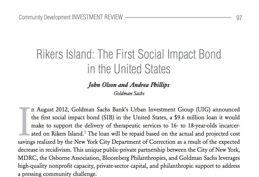 Rikers Island SIB