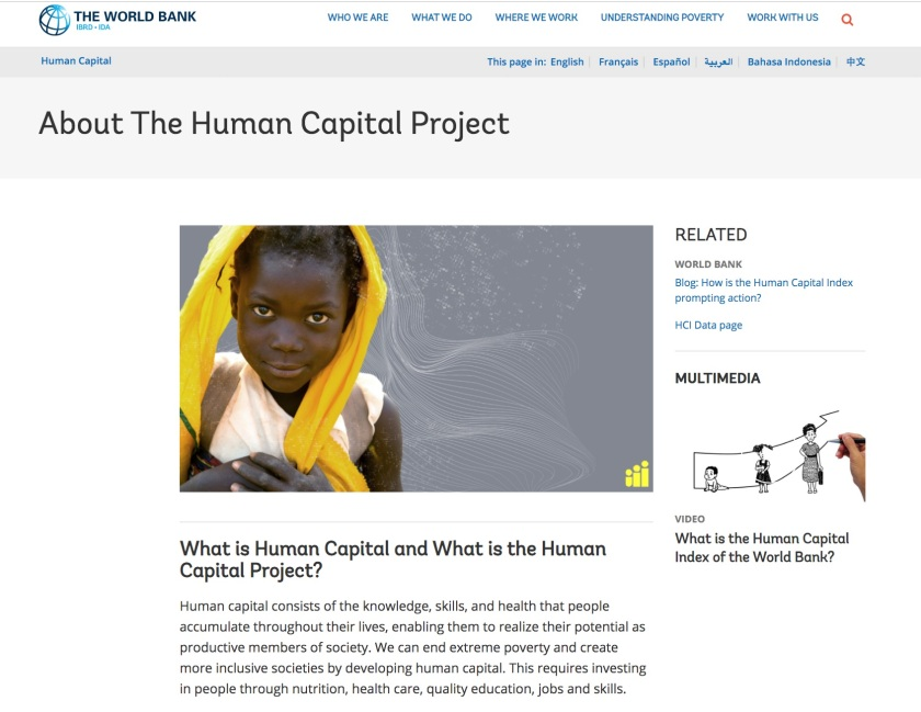World Bank Human Capital Project